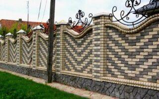Забор из кирпича надежность и защита