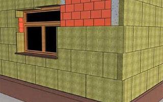 Утепление кирпичного фасада здания