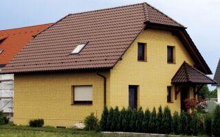 Жёлтый кирпич, варианты применения в отделке домов
