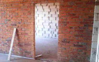Как сделать новый проем в кирпичной стене