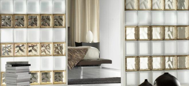 Стеклянные кирпичи и стеклоблоки в интерьере