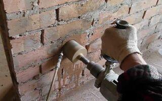 Как установить подрозетник в кирпичную стену, советы