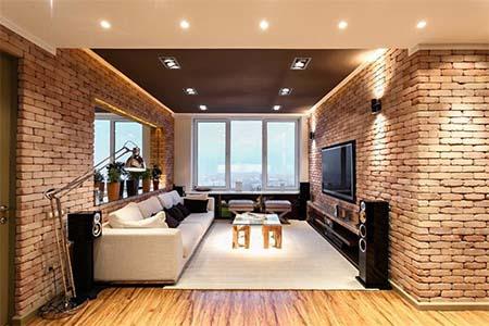 Варианты отделки кирпичной стены внутри дома