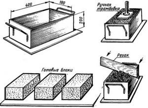кирпич из опилок и цемента