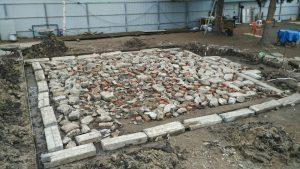 фундамент под сарай из кирпича