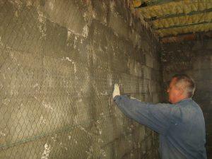 крепление сетки к стене