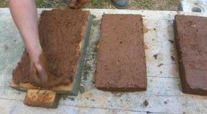 сырец кирпич из глины